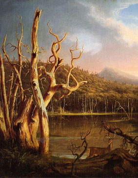 Thomas Cole, Lake With Dead Trees, 1825